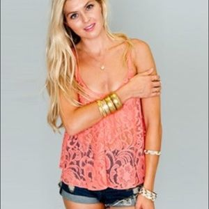 Show Me Your MuMu Tops - Show Me Your MuMu Stacey Swing Tank in Lola Lace