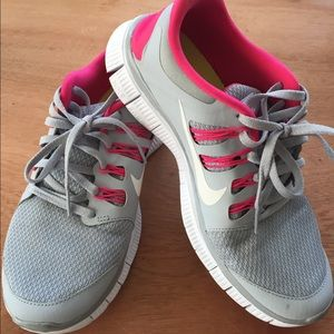 Nike Shoes - Nike Free 5.0 Running Shoes. Pink and gray