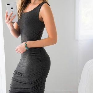 11thstreet Dresses & Skirts - Essex Midi   Charcoal