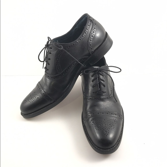 Aston Grey Wing Tips Shoes Black