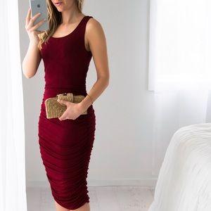 11thstreet Dresses & Skirts - Essex Midi   Burgundy