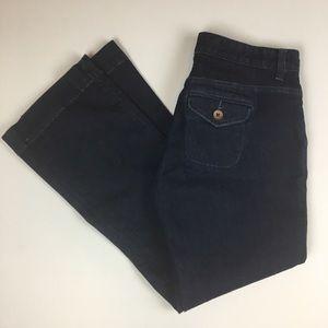 LOFT Denim - LOFT | Dark Wash Curvy Trouser
