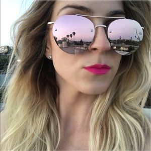 Accessories - Rose Gold Flat Aviators - NWT