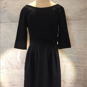 Kate Spade ♠️ black Swiss dot dress 8