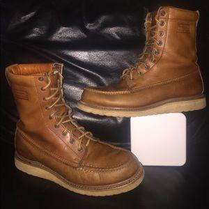 3a32a1d9d3b SEARS DIEHARD Shoes - Vintage SEARS Tan Leather Work Boot Sz 9.5D