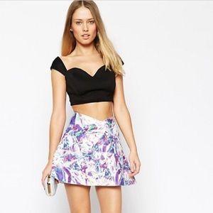 Print Mini A-Line Skirt