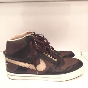 Nike Other - Nike Delta Force High Brown Black Beige Sneakers