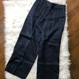 Armani Collezioni Wide Leg Linen Trousers