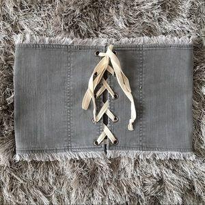Accessories - ✨ 🆕 Gray Denim Corset Belt ✨