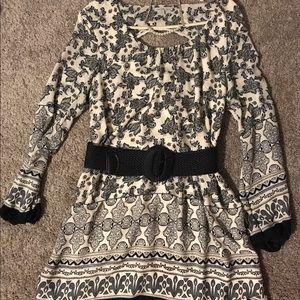 Charlotte Russe long sleeve swing dress