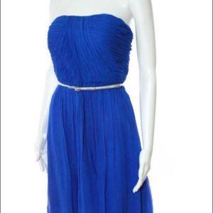 Donna Morgan Strapless blue dress size 2