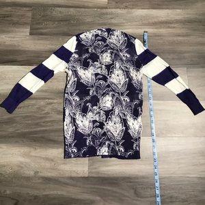 Loft Purple and White Pattern Cardigan XXSP
