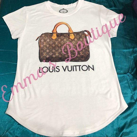 25 off tops louis vuitton fashion tee 1 hour sale for Do gucci shirts run small