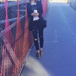 Pull&Bear Denim - Ripped black jeans‼️ wardrobe essential!