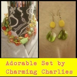 Charming Charlie Jewelry - Adorable Necklace & Earrings by Charming Charlie