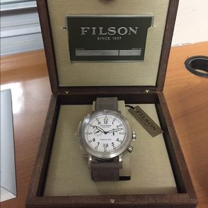 Filson Other - Filson chronograph stainless steel watch