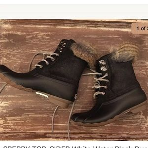 Sperry Topsider white water black duck boots
