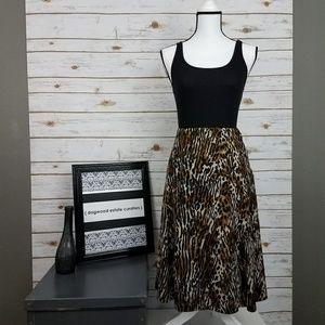 {Jones New York} Animal Print Skirt-Size PM