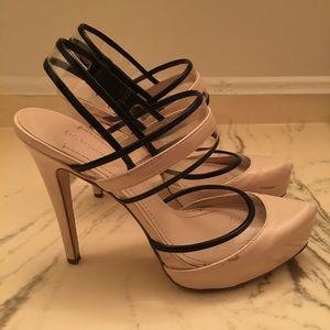 Nude and black heels