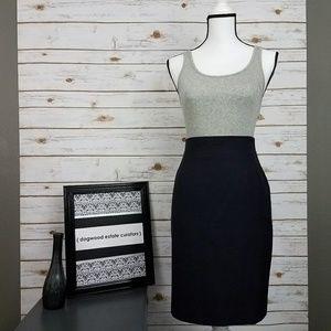 {Jones New York) Navy Pencil Skirt-Size 12