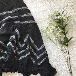 Free People Dresses & Skirts - {free people} trapeze & voile slip black polkadot