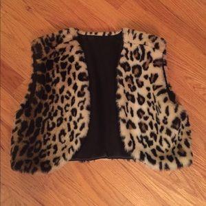 Faux Cheetah Fur Vest