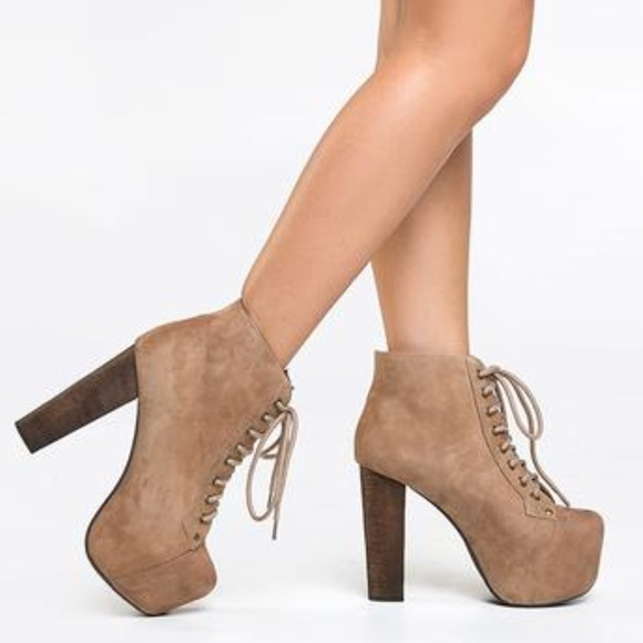 63 off jeffrey campbell shoes jeffrey campbell lita tan suede wood heels from dianna 39 s closet. Black Bedroom Furniture Sets. Home Design Ideas