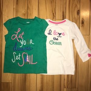 Gymboree Other - Duo of 4t nautical tops