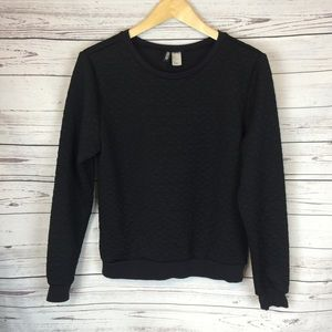 H&M Divided Black 3D Triangle Sweater