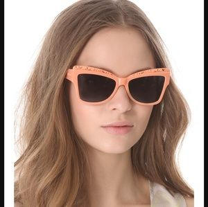 Karen Walker Accessories - Karen Walker peach Atomic sunglasses