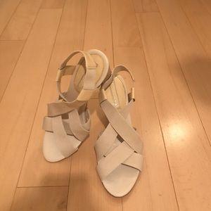 BR open toe heels-- gently used