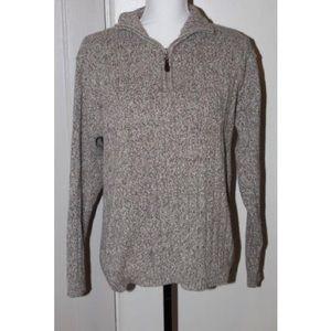 Oscar de la Renta Pullover Zip Up Sweater