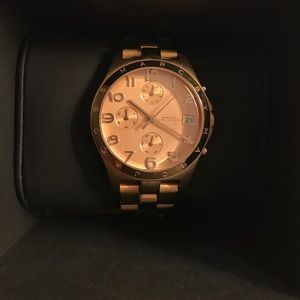 Marc by Marc Jacobs rose gold statement watch