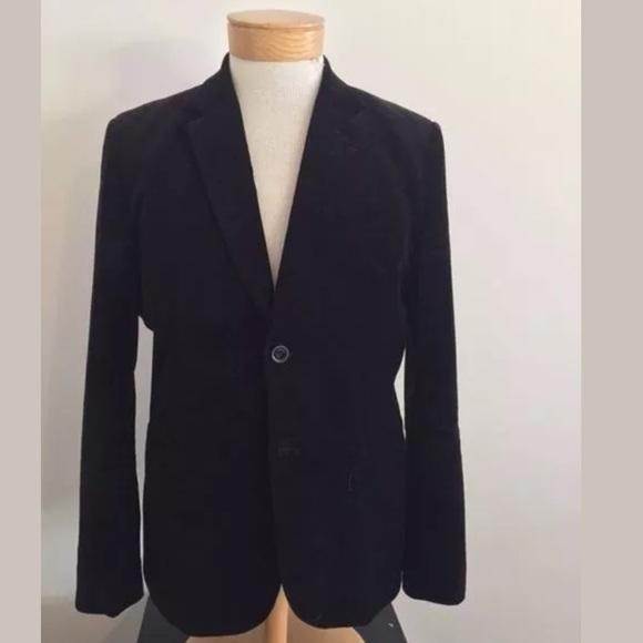 H M Suits Blazers Hm Mens Black Velvet Blazer Sport Coat 44r Us