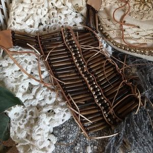 Jewelry - Brown chestplate necklace