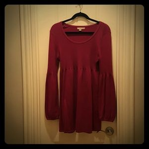 one clothing Dresses & Skirts - ONE A Fuscia Long Sleeve Sweater Dress