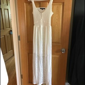 Ocean Drive Dresses & Skirts - Long White Lace Open Back Maxi Dress