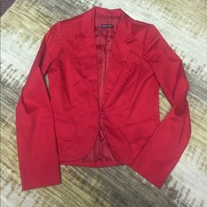 Red Business Casual Suit Jacket