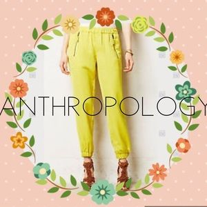 Anthropologie Pants - HEI anthropologie chartreuse joggers size 26 / 27