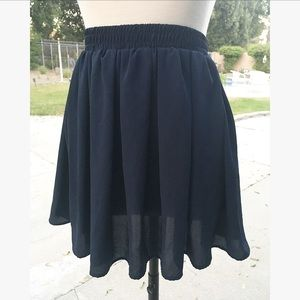 Brandy Melville Navy Circle Twirl Skirt