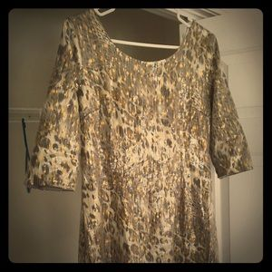 Sequence cheetah print dress