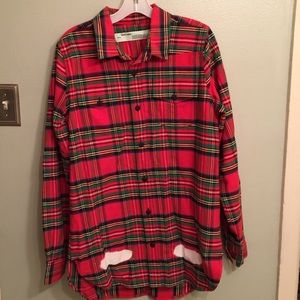 Off-White Other - Off-White c/o Virgil Abloh Red Check Spray Shirt