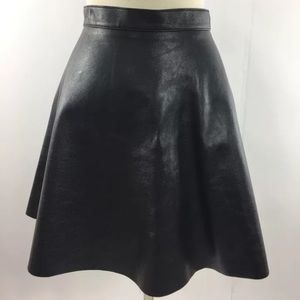 American Apparel Lambskin Black Leather Skirt