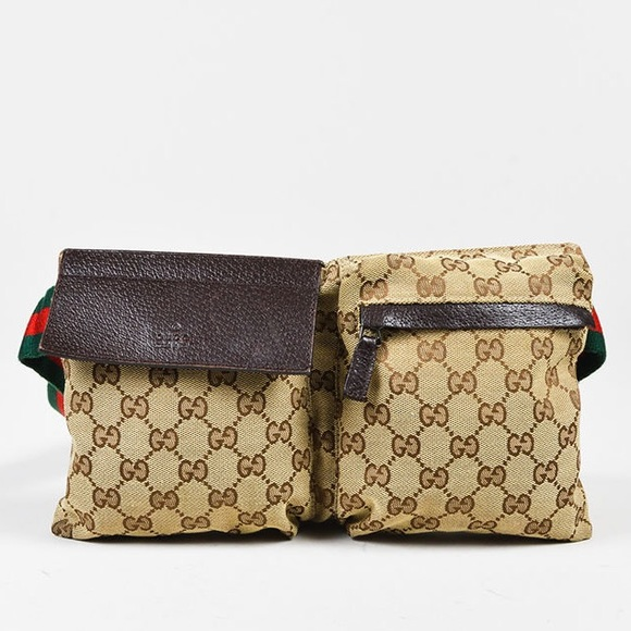 09df56e051a Gucci Handbags - GUCCI Canvas Monogram Belt Bag