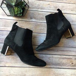 Isaac Mizrahi Shoes - Isaac Mizrahi Carnaby Suede Leather Bootie