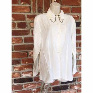 Van Heusen Chain RARE Stud Collar Button Shirt M