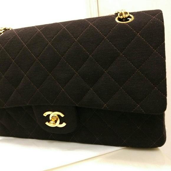 fb8218baf82e69 CHANEL Bags | Authentic Jersey Classic Flap Bag 255 | Poshmark