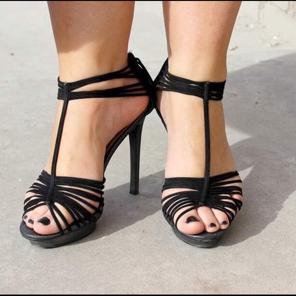 91acada3051 B.P. by Nordstrom Shoes - B.P. by Nordstrom Black Suede Strappy Sandals