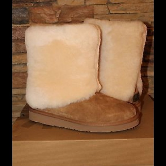 e6f77eb3902 NIB UGG Patten Suede Shearling Boots Chestnu Boutique