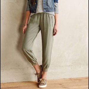 HPAnthropologie Olive Green Joggers